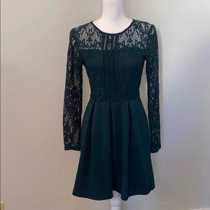 Speechless Long Sleeve Lace Dress Size Small